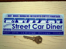 BARBARA'S STREET CAR DINER Chicago CAR STICKER Americana Bumper Hot Rod Vintage