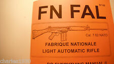 NEW BOOK FN FAL AUTOMATIC RIFLE INSTRUCTION MANUAL