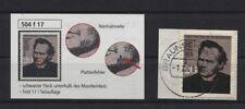 Bund 504 II mit Plattenfehler II gestempelt auf Briefstück (B05642)
