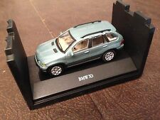HTF CARARAMA BMW X5 SUV DIECAST 1:72 ON STACKABLE DISPLAY BASE TURQUOISE