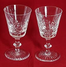 Beautiful Pair of High Quality  Royal Doulton Crystal Wine Glasses.