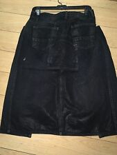 SLAB BY Rick Owens WOMEN Skirts,jeans black low &high sz M wax wash wca4005