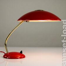 Alte Kaiser Tisch Lampe Lese Leuchte Rot 6781 Desk Lamp Vintage 50er Jahre