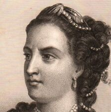 Portrait XIXe Claire-Josèphe Léris Mademoiselle Clairon Théâtre Comédienne
