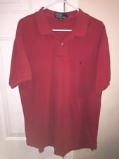 MEN'S POLO BY RALPH LAUREN RED SHIRT-LARGE