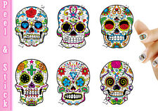 Sugar Skulls Day of the Dead Nail Art Decal Sticker Set SKU907