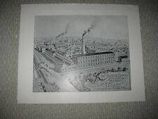 ANTIQUE 1893 HOLMES AND EDWARDS SILVER COMPANY BRIDGEPORT CONNECTICUT PRINT NT