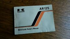 KAWASAKI   AR 125  A3 B2 OWNERS MANUAL/ BOOKLET