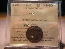 1922 One Cent ***** ICCS MS-60