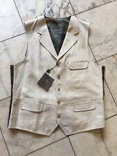 NWT Kroon Casual Dress Men's Vest Natural Linen Cotton Sz L