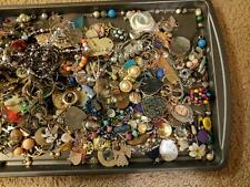 Vintage Junk Drawer Jewelry Beads Necklaces Craft Broken Repair Lot 3