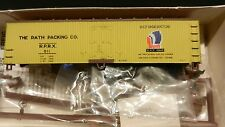 Walthers HO Wood End Billboard Reefer Kit Rath Packing Co. Blackhawk Brand, NIB