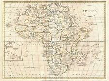 1799 Clement cruttwell Mappa Africa vintage repro poster art print 2879pylv
