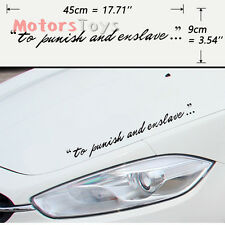 1x Fashion JDM To Punish And Enslave Body And Windshield Vinyl Car Sticker Decal