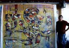 SIMEON GONZALES -XL HUGE MURAL 7.2 FTX 7.2 FT by RENOWNED ARTIST STEAL 10K Value