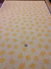 More Antique Treasures 100 % Cotton fabric Quilting Craft Yellow Floral