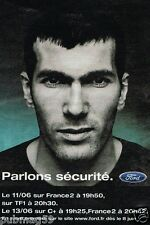 Publicité advertising 2001 Ford Zinedine Zidane