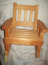"""Doll Furniture 12"""" High Wooden Slotted Rocking Chair-Well Made-New"""