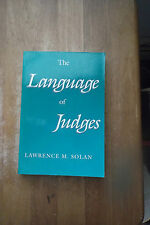 The Language of Judges by Lawrence M. Solan SC