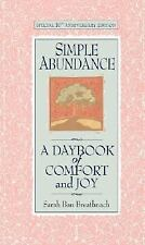 Simple Abundance a Daybook of Comfort and Joy - Breathnach (Hardcover)