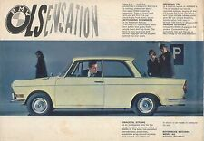 BMW 700 LS Saloon 1962-63 Original UK Single Sheet Sales Brochure Pub No W224300