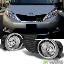 2011-2015 Toyota Sienna Bumper Driving Fog Lights Lamps w/ Switch+wiring Kit Set