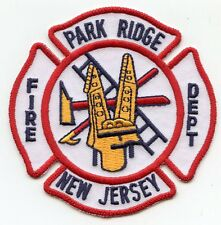 PARK RIDGE NEW JERSEY NJ FIRE PATCH
