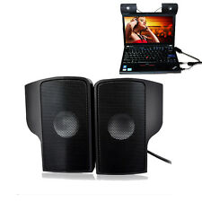 Portable USB Clip Speaker for Notebook Phone Music Player laptop Computer Black
