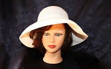 SCALA COLLECTION [NWOT]:  White Women Hat