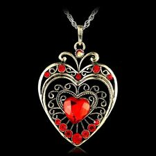 The Royal Blue Crystal Heart Necklace Pendant Women's Valentine's day Gifts