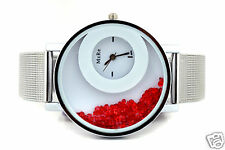 Rhineston in Dial - Woman's Wrist watch Steel Strap - Latest Ladies watches