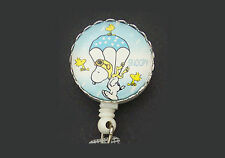 Parachute SNOOPY Retractable Badge Reel ID Card Holder Key Ring Chain Peanuts
