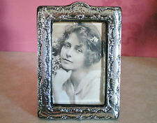 Antique Arts & Crafts / Art Nouveau Sterling Silver Photo Frame Hallmarked 1907