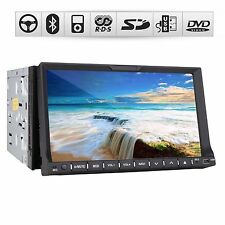 "SONY Lens 3D GPS Map 7"" HD Double 2 Din Car Stereo CD DVD Player BT Free call"