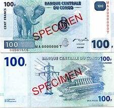 CONGO DR 100 FRANCS 2007 P-98s UNC SPECIMEN