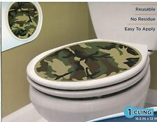 TOILET BOWL SEAT DECORATION Camouflage cling bathroom lid decal camo sticker