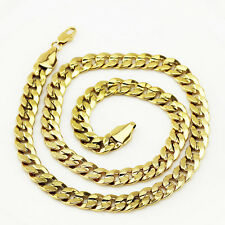 Mens Jewellery 18 k Gold Plated Necklace for Men or Women Chain Width 6 mm N302
