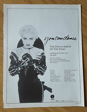 RARE MADONNA YOU CAN DANCE ALBUM FULL PAGE MAGAZINE PRESS ADVERT 1987