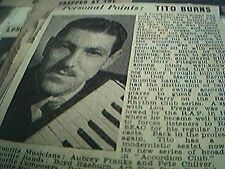 news item 1947 jazz picture personal points tito burns