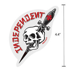 "4.4"" Independent Truck Company Dressen Dagger Skull Tattoo Skateboard Sticker"