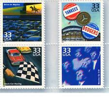 Sc # 3187  Drive-in-movie  World Series 3D-Movie Car race   MINT Events of 1950s