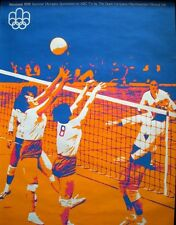 1976 MONTREAL SUMMER OLYMPICS VOLLEYBALL vintage poster. SUPERB Art NM