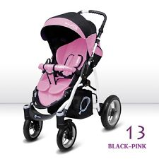 Pushchair stroller baby buggy 9 COLOURS SPORT Q actice city swivel wheels