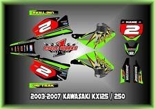 Kawasaki KX125-250 03-13  SEMI CUSTOM GRAPHICS KIT SPLITFIRE 05