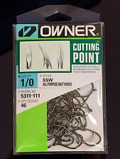 OWNER SSW 1/0 BAIT HOOKS. PRO PACK. OCTOPUS.  SIZE 1/0, Qty 46.  5311-111. New