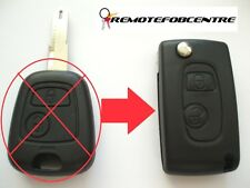 2 button flip key case upgrade for Peugeot 206 remote key