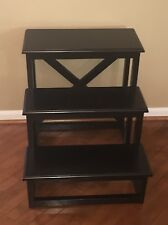 Pottery Barn Rhys Black Phoebe Accent Side Table New