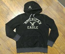 Young Men's Long Sleeve Black Hoodie by AMERICAN EAGLE VINTAGE ~~Size Small