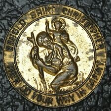 BEHOLD SAINT CHRISTOPHER MEDAL - Then Go Your Way In Safety-Pius XII Pont.Max.