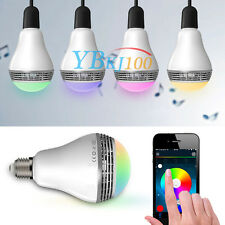 E27 5W LED RGB Color Bulb Bluetooth Control Smart Music Speaker Lamp Lights cjk